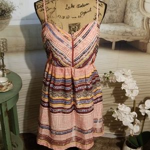 Roxy multicolored thin strapped dress (XL)